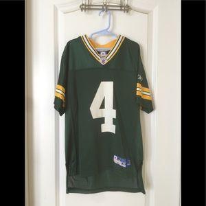 Reebok Youth Size M Brett Farve #4 Packers Jersey